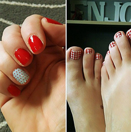 New-Houndstooth-Toe-Nail-Art-Designs-Ideas-Trends-Stickers-Wraps-2014-2