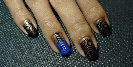 Pretty-Guitar-Nail-Art-Designs-Ideas-Trends-2014-1