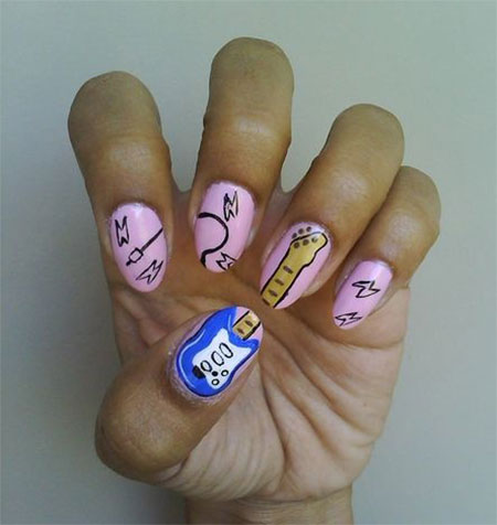 Pretty-Guitar-Nail-Art-Designs-Ideas-Trends-2014-5