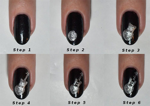 Simple-Easy-Guitar-Nail-Art-Tutorials-2014-For-Beginners-Learners-1