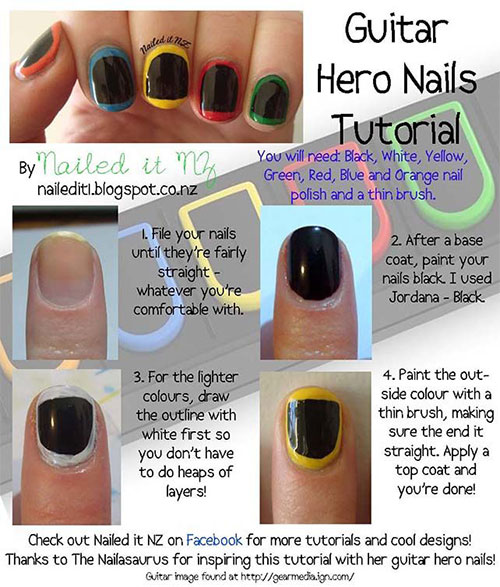 Simple-Easy-Guitar-Nail-Art-Tutorials-2014-For-Beginners-Learners-2