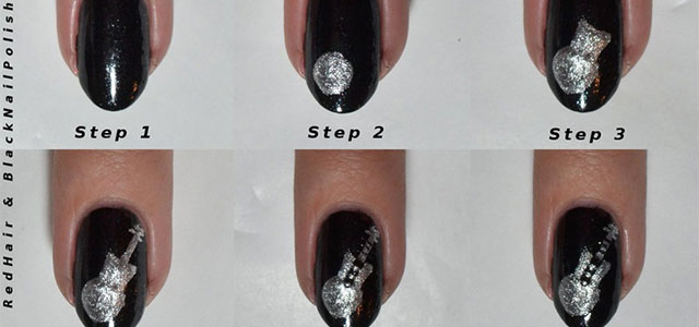 Simple-Easy-Guitar-Nail-Art-Tutorials-2014-For-Beginners-Learners