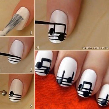 Simple-Music-Nail-Art-Tutorials-2014-For-Beginners-Learners-4
