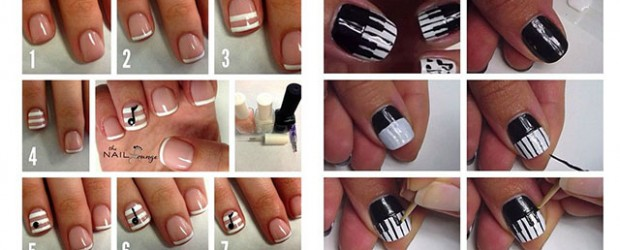 Simple-Music-Nail-Art-Tutorials-2014-For-Beginners-Learners