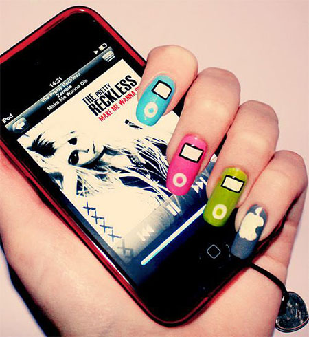 iPod-Inspired-Nail-Art-Designs-Ideas-Trends-2014-10
