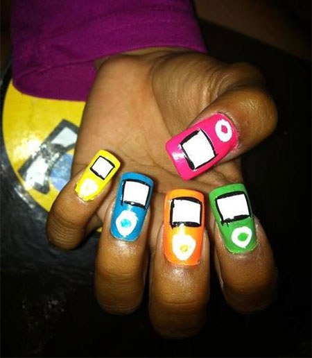 iPod-Inspired-Nail-Art-Designs-Ideas-Trends-2014-3