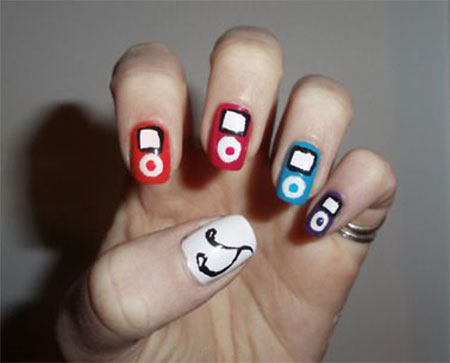 iPod-Inspired-Nail-Art-Designs-Ideas-Trends-2014-7