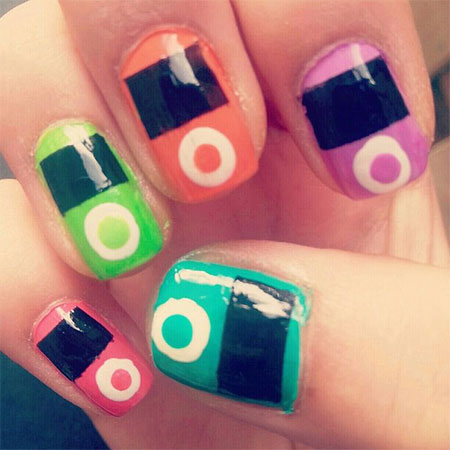 iPod-Inspired-Nail-Art-Designs-Ideas-Trends-2014-8