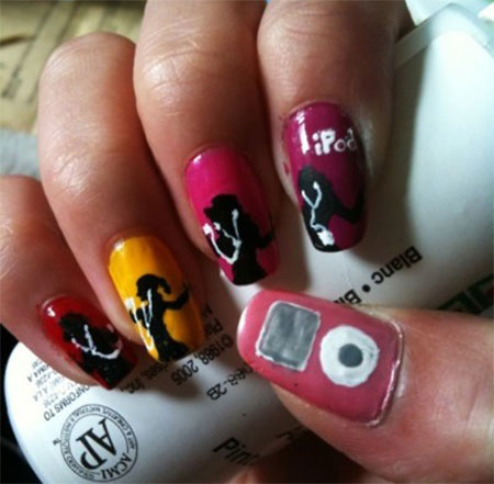 iPod-Inspired-Nail-Art-Designs-Ideas-Trends-2014-9