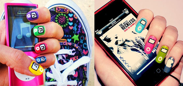 iPod-Inspired-Nail-Art-Designs-Ideas-Trends-2014