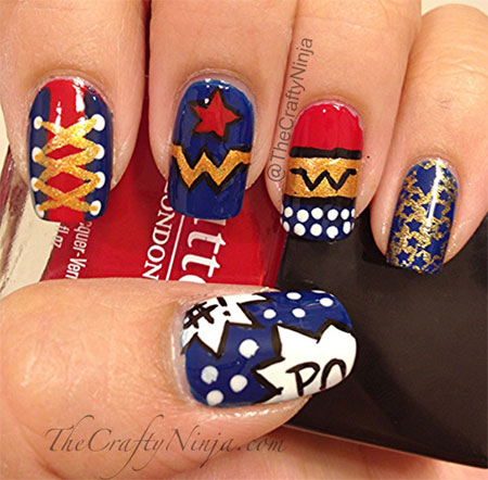 10-Amazing-Wonder-Woman-Nail-Art-Designs-Ideas-Trends-Stickers-2014-4