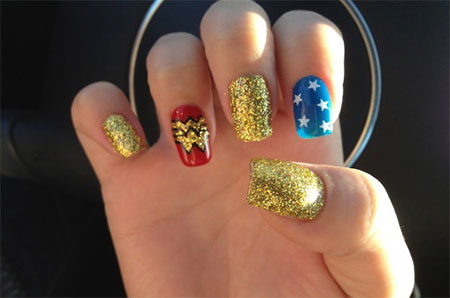 10-Amazing-Wonder-Woman-Nail-Art-Designs-Ideas-Trends-Stickers-2014-6