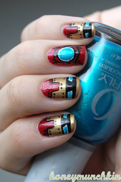 12-Easy-Iron-Man-Inspired-Nail-Art-Designs-Ideas-Trends-Stickers-2014-10