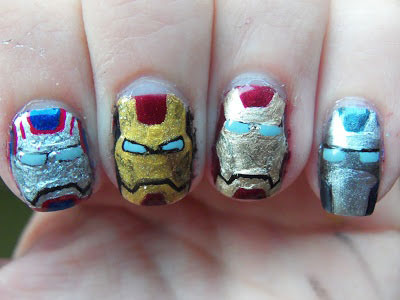 12-Easy-Iron-Man-Inspired-Nail-Art-Designs-Ideas-Trends-Stickers-2014-11