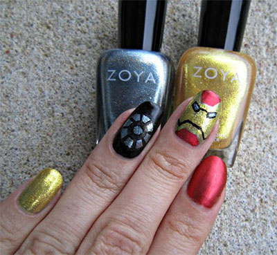 12-Easy-Iron-Man-Inspired-Nail-Art-Designs-Ideas-Trends-Stickers-2014-13