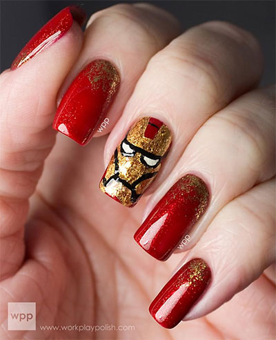 12-Easy-Iron-Man-Inspired-Nail-Art-Designs-Ideas-Trends-Stickers-2014-2