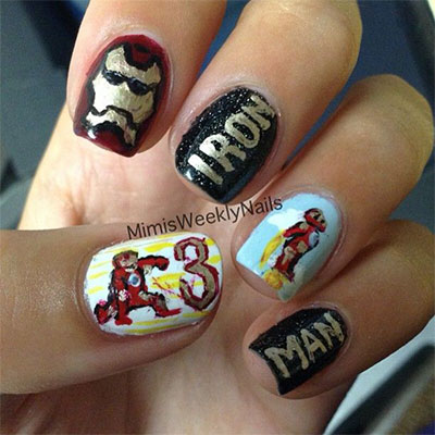 12-Easy-Iron-Man-Inspired-Nail-Art-Designs-Ideas-Trends-Stickers-2014-4