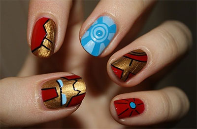 12-Easy-Iron-Man-Inspired-Nail-Art-Designs-Ideas-Trends-Stickers-2014-5