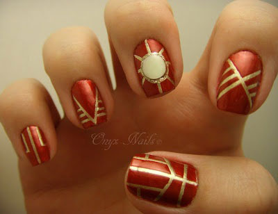12 + Easy Iron Man Inspired Nail Art Designs, Ideas