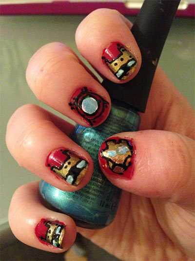12-Easy-Iron-Man-Inspired-Nail-Art-Designs-Ideas-Trends-Stickers-2014-9