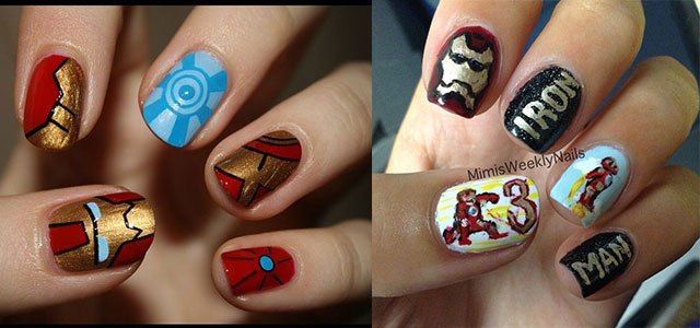 12-Easy-Iron-Man-Inspired-Nail-Art-Designs-Ideas-Trends-Stickers-2014-F