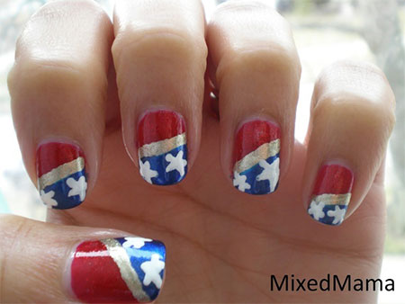 12-Easy-Wonder-Woman-Nail-Art-Designs-Ideas-Trends-Stickers-2014-1