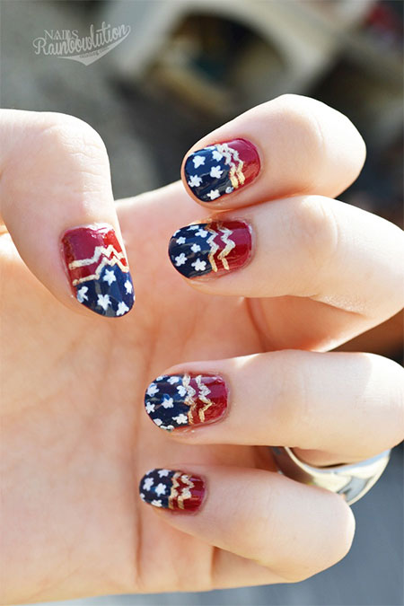 12-Easy-Wonder-Woman-Nail-Art-Designs-Ideas-Trends-Stickers-2014-10