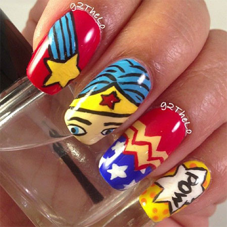 12-Easy-Wonder-Woman-Nail-Art-Designs-Ideas-Trends-Stickers-2014-11