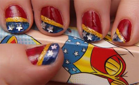 12-Easy-Wonder-Woman-Nail-Art-Designs-Ideas-Trends-Stickers-2014-2