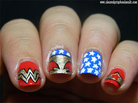 12-Easy-Wonder-Woman-Nail-Art-Designs-Ideas-Trends-Stickers-2014-3