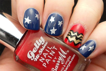 12-Easy-Wonder-Woman-Nail-Art-Designs-Ideas-Trends-Stickers-2014-5
