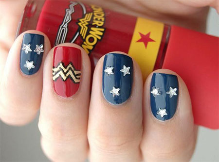12-Easy-Wonder-Woman-Nail-Art-Designs-Ideas-Trends-Stickers-2014-6