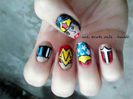 12-Easy-Wonder-Woman-Nail-Art-Designs-Ideas-Trends-Stickers-2014-7