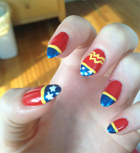 12-Easy-Wonder-Woman-Nail-Art-Designs-Ideas-Trends-Stickers-2014-8