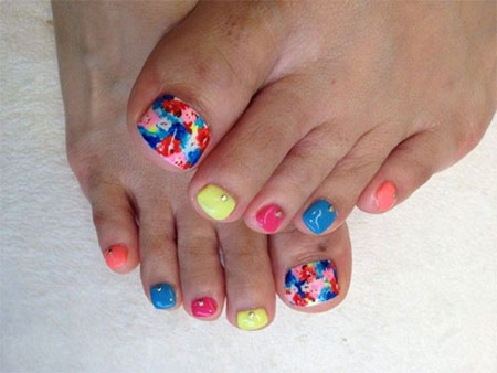 12-Summer-Themed-Toe-Nail -Art-Designs-Ideas-Trends-Stickers-2014-13