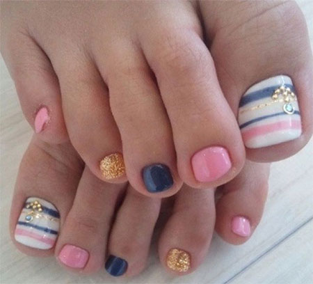 12 Summer Themed Toe Nail Art Designs Ideas