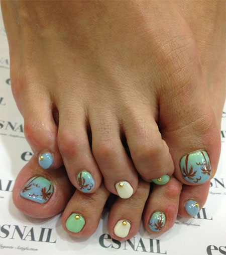 12-Summer-Themed-Toe-Nail -Art-Designs-Ideas-Trends-Stickers-2014-5
