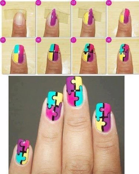 15-Easy-Summer-Inspired-Nail-Art-Tutorials-For-Beginners-Learners-2014-15