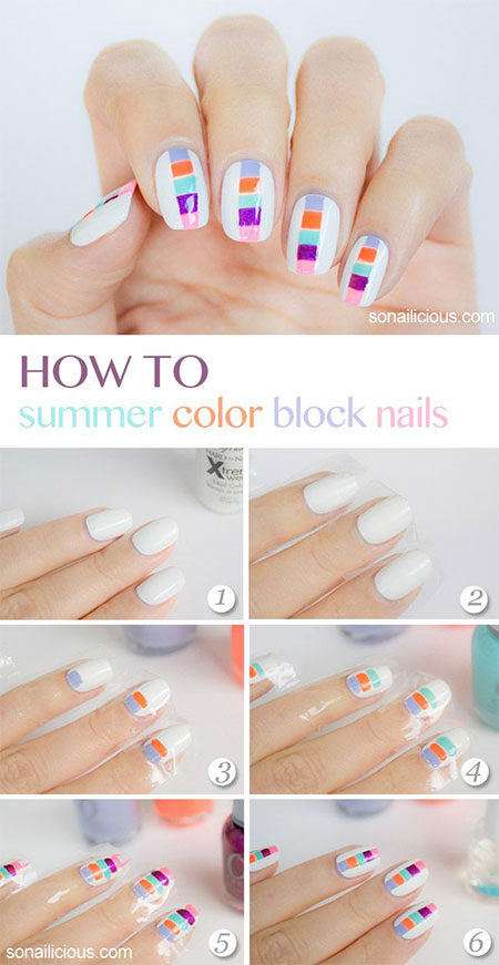 15-Easy-Summer-Inspired-Nail-Art-Tutorials-For-Beginners-Learners-2014-2