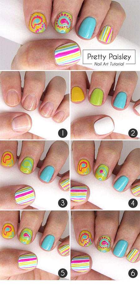 15 easy summer inspired nail art tutorials for beginners 15 easy summer inspired nail art tutorials for prinsesfo Choice Image
