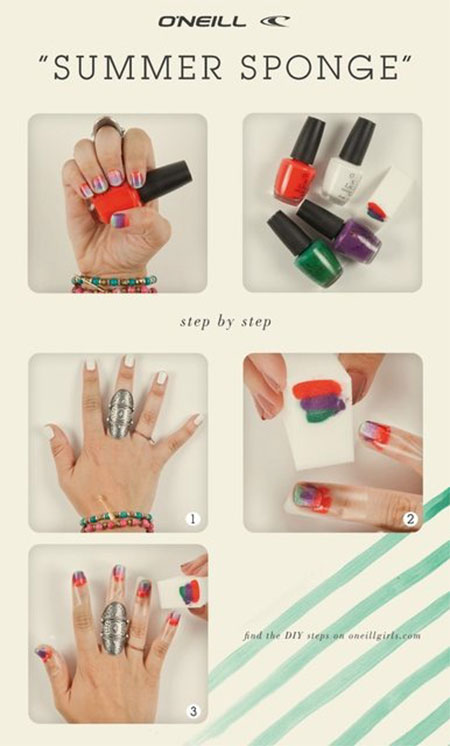 15-Easy-Summer-Inspired-Nail-Art-Tutorials-For-Beginners-Learners-2014-6