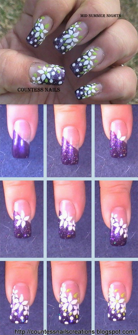 15 + Easy Summer Inspired Nail Art Tutorials For Beginners ...