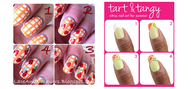 15 + Easy Summer Inspired Nail Art Tutorials For Beginners & Learners 2014  | Fabulous Nail Art Designs - 15 + Easy Summer Inspired Nail Art Tutorials For Beginners