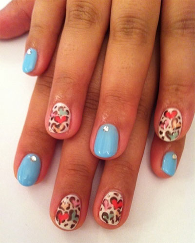 15-Stunning-Blue-Summer-Nail-Art-Designs-Ideas-Trends-Stickers-2014-14
