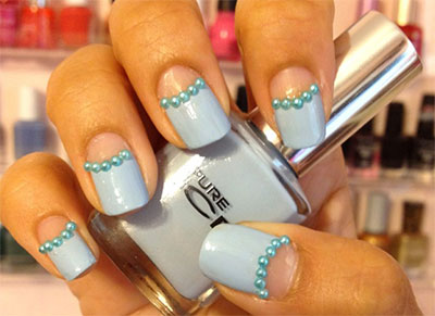 15-Stunning-Blue-Summer-Nail-Art-Designs-Ideas-Trends-Stickers-2014-7