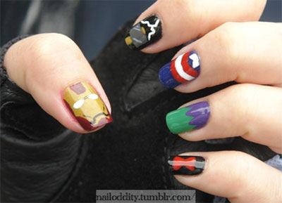 20-Avengers-Nail-Art-Designs-Ideas-Trends-Stickers-2014-18