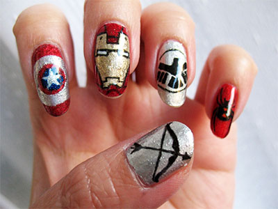 20-Avengers-Nail-Art-Designs-Ideas-Trends-Stickers-2014-6