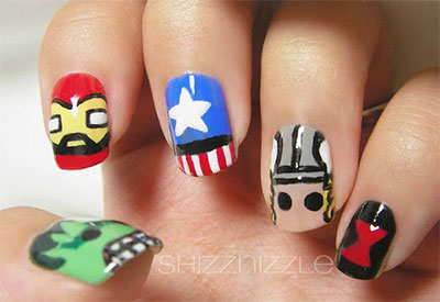 20-Avengers-Nail-Art-Designs-Ideas-Trends-Stickers-2014-7