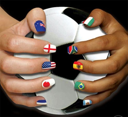 25-FIFA-World-Cup-2014-Brazil-Nail-Art- - 25 + FIFA World Cup 2014 Brazil Nail Art Designs, Ideas, Trends