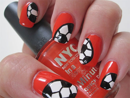 Football nail stickers best nails 2018 25 fifa world cup 2016 brazil nail art designs ideas trends prinsesfo Images